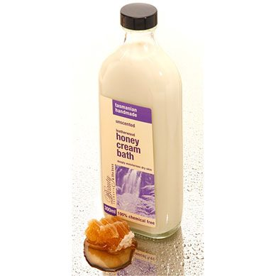 Leatherwood Honey Cream Bath. THIS PRODUCT WILL BE DISCONTINUED ONCE THE LABELS HAVE GONE, UNSCENTED & LAVENDER.