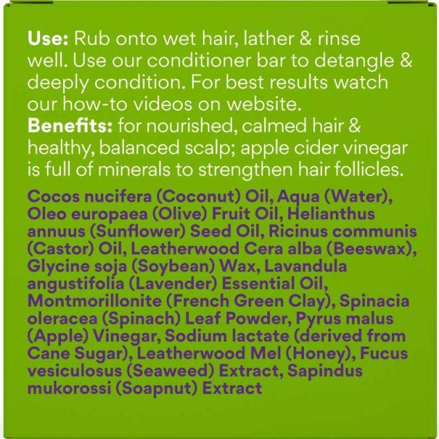 Tasmanian Apple Cider Vinegar & Honey Shampoo Bar