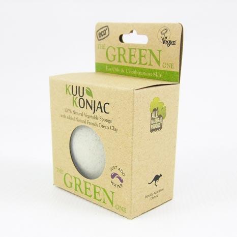 KUU Green facial sponge