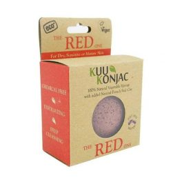 KUU Red facial sponge